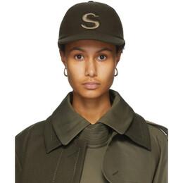 Sacai Khaki S Melton Wool Cap 20-0136S