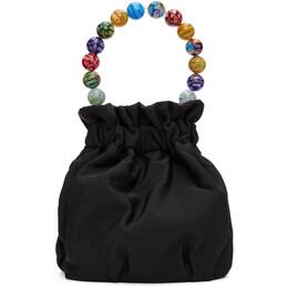 Staud Black Nylon Glass Bead Grace Bow Bag 141-9004-BLKB