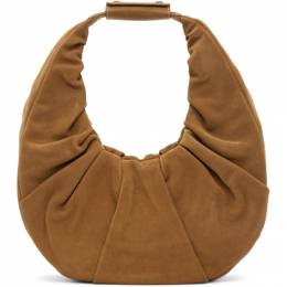 Staud Tan Suede Large Soft Moon Bag 34-9253-TAN