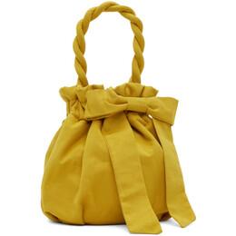 Staud Yellow Nylon Grace Bow Bag 256-9353-GOLD