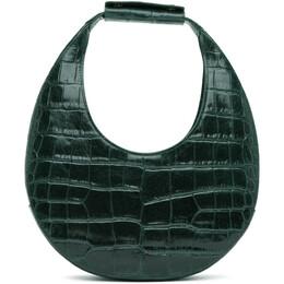 Staud Green Croc Moon Bag 12-9166-IVYG