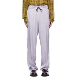 Dries Van Noten Purple Viscose Drawstring Trousers 20905-1152-403