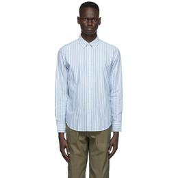 Rag&Bone Blue Stripe Fit 2 Tomlin Shirt MBW20PA0154PML