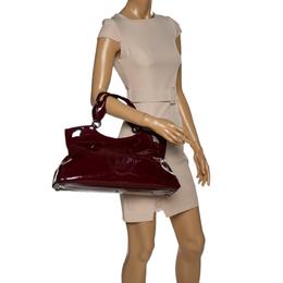 Cartier Burgundy Patent Leather Medium Marcello de Cartier Bag 329567