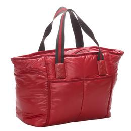 Bottega Veneta Red Nylon Marco Polo Tote Bag 324228