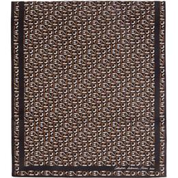 Kenzo Black Silk Monogram Scarf FA68EW712PFN 06PFN.90