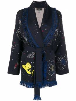 Alanui кардиган-пальто с узором LWHB032F20KNI0064585