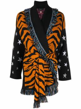 Alanui кардиган-пальто с узором LWHB032F20KNI0091085