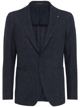 Куртка Из Шерстяного И Хлопкового Джерси Tagliatore 72I0TQ013-QjE2NzRS0