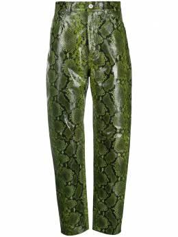 The Attico брюки со змеиным принтом 202WCP11EL005
