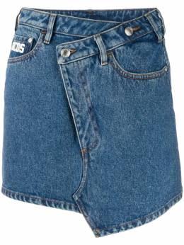 GCDS джинсовая юбка с вышитым логотипом CC94W031402