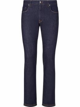 Fendi узкие джинсы с контрастным карманом FLP201ACBB