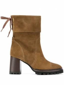 See By Chloe ботинки Crosta Terra на каблуке SB35063A12121