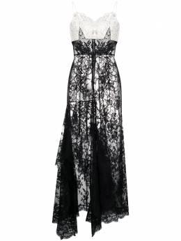 Alexander McQueen платье с кружевными вставками 634465QEAAG