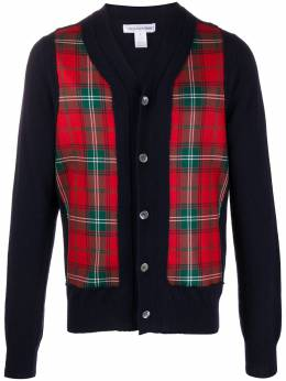 Comme Des Garcons Shirt plaid-panelled cardigan W285112