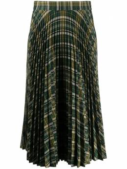 Plan C tartan pleated skirt GOCAB10BE0TP038