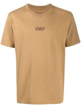 White Mountaineering футболка с круглым вырезом и логотипом AW20WM2073502