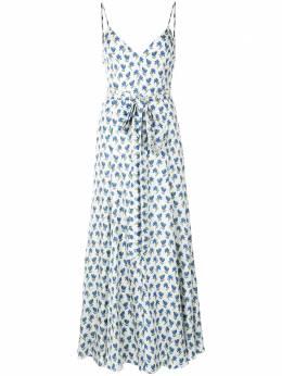 Carolina Herrera платье миди с поясом и цветочным принтом P2011N538PTT