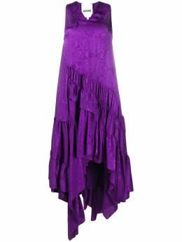 Koche платье асимметричного кроя со змеиным принтом SK3CT0037S53512