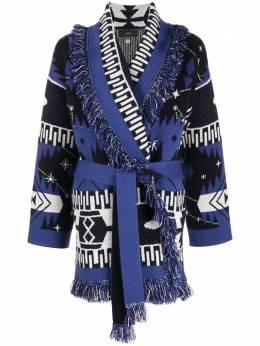 Alanui кардиган-пальто с узором LWHB032F20KNI002