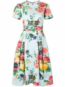 Carolina Herrera платье миди с цветочным принтом P2011N514BFT