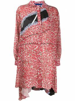Koche платье-рубашка с леопардовым принтом SK1CT0009S53325