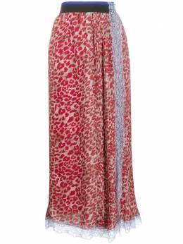 Koche плиссированная юбка с леопардовым принтом SK1MA0003S53325