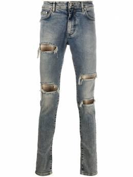 Represent джинсы скинни с эффектом потертости M07052025COTTON