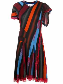 Koche платье асимметричного кроя с кружевом SK3CT0042S23827