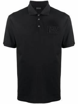 Emporio Armani logo patch polo shirt 6H1FC71JRNZ