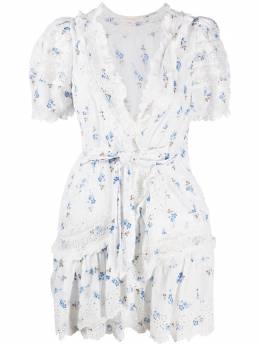 Loveshackfancy платье с цветочным принтом LD834618