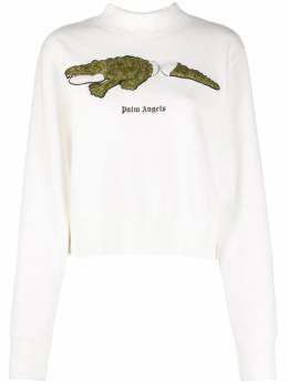 Palm Angels crocodile patch sweatshirt PWBA016F20FLE0020355