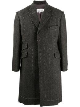 Maison Margiela пальто с контрастной строчкой S67AA0027S53338