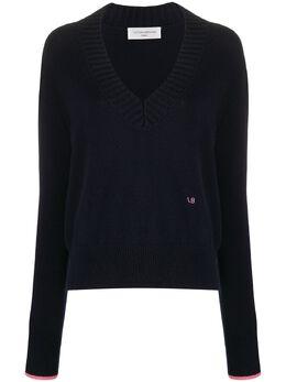 Victoria Beckham свитер свободного кроя с V-образным вырезом 1320KJU001583A