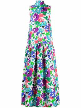 Plan C tulip print maxi dress ABCAB59LN0TP041
