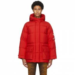 Kenzo Red Down Puffer Sport Little X Jacket FA62OU067569