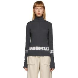 Raquel Allegra Grey Tie-Dye Turtleneck Y04-1804TD