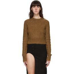 Helmut Lang Tan Alpaca Shrunken Sweater K07HW701