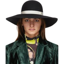 Maison Michel Black Blanche Panama Hat 1004031001