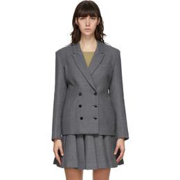 Maryam Nassir Zadeh Grey Wool Clara Blazer 2062