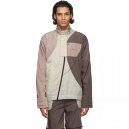 A-Cold-Wall* Purple and Beige Converse Edition Panelled Track Jacket 10019283-A01
