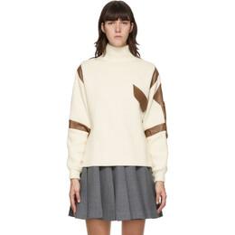 Maryam Nassir Zadeh Off-White and Brown Cortina Sweater FW20K06