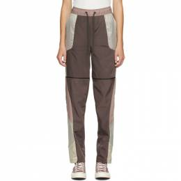 A-Cold-Wall* Purple and Beige Converse Edition Panelled Track Pants 10019284-A01