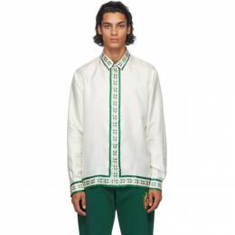 Casablanca White Silk La Fleur De LOranger Shirt MF20-SH-001