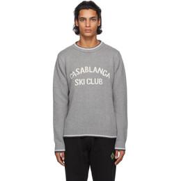 Casablanca Grey Casablanca Ski Club Sweater MF20-KW-050