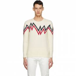 Moncler Off-White Wool and Alpaca Sweater 9C75000A9498