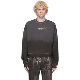 Ottolinger Grey Black Dip Sweatshirt AW20SW01B
