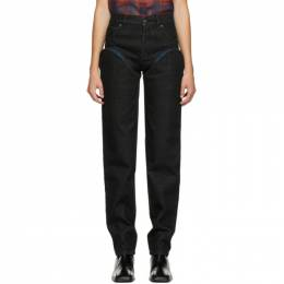 Y / Project Black and Navy Cut-Out Jeans WJEAN30-S19