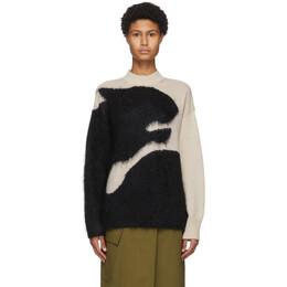 Kenzo Beige Tiger Drawing Sweater FA65MPU203RF