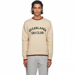 Casablanca Off-White Casablanca Ski Club Sweater MF20-KW-050